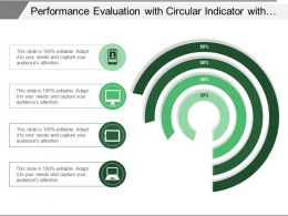 Performance Evaluation With Circular Indicator With Percentage