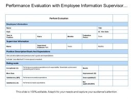 Performance Evaluation With Employee Information Supervisor Rating Scale