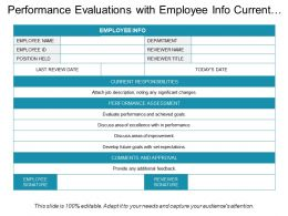 Performance Evaluations With Employee Info Current Responsibilities