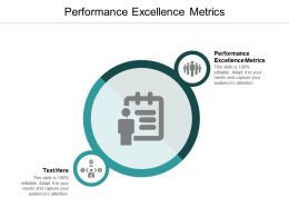 Performance Excellence Metrics Ppt Powerpoint Presentation File Model Cpb
