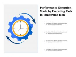 Performance Exception Made By Executing Task In Timeframe Icon
