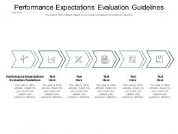 Performance Expectations Evaluation Guidelines Ppt Powerpoint Presentation Show Mockup Cpb