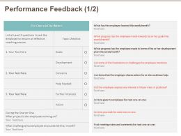 Performance Feedback Concerns M522 Ppt Powerpoint Presentation Show Clipart