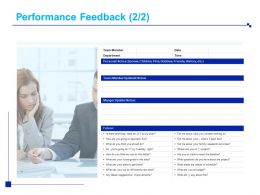 Performance Feedback Department Ppt Powerpoint Presentation Layouts Clipart