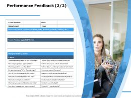 Performance Feedback Department Ppt Powerpoint Presentation Styles Objects