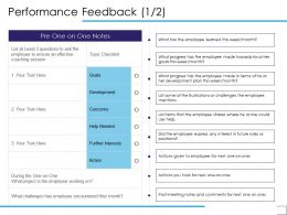 Performance Feedback Development Ppt Powerpoint Presentation Layouts Example