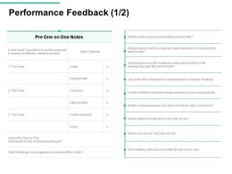 Performance Feedback Encountered Ppt Powerpoint Presentation Summary Templates