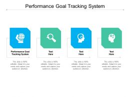 Performance Goal Tracking System Ppt Powerpoint Presentation Professional Gallery Cpb