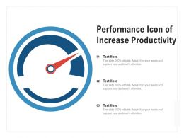 Performance Icon Of Increase Productivity