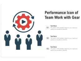 Performance Icon Of Team Work With Gear