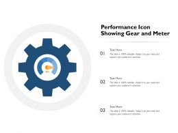 Performance Icon Showing Gear And Meter