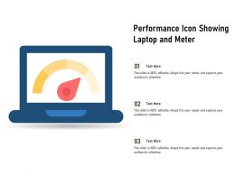 Performance Icon Showing Laptop And Meter