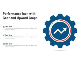 Performance Icon With Gear And Upward Graph