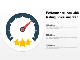 Performance Icon With Rating Scale And Star