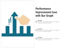 Performance Improvement Icon With Bar Graph