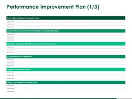 Performance Improvement Plan Achievements Accomplishments Ppt Powerpoint Presentation