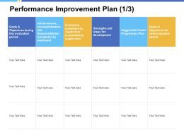 Performance Improvement Plan Achievements Ppt Powerpoint Presentation Portfolio Graphics