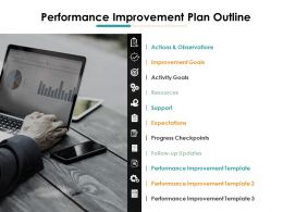 Performance Improvement Plan Outline Ppt Icon Background Designs