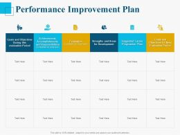 Performance Improvement Plan Ppt Powerpoint Presentation Layouts Gallery