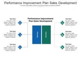 Performance Improvement Plan Sales Development Ppt Powerpoint Presentation Gallery Graphics Cpb