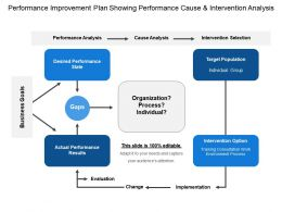 Performance Improvement Plan Showing Performance Cause And Intervention Analysis