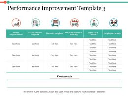 Performance Improvement Ppt Infographic Template Demonstration