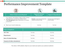 Performance Improvement Ppt Infographics Example Introduction