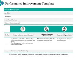 Performance Improvement Ppt Powerpoint Presentation Inspiration Elements
