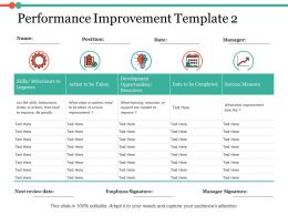 Performance Improvement Success Measure Ppt Infographic Template Example Introduction