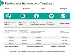 Performance Improvement Success Measure Ppt Powerpoint Presentation Inspiration Display