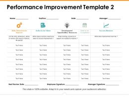 Performance Improvement Template 2 Ppt Icon Background Image