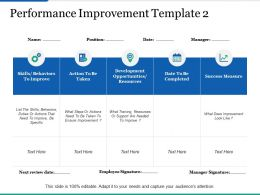 Performance Improvement Template 2 Ppt Infographics Master Slide