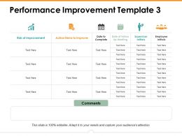 Performance Improvement Template 3 Ppt Icon Design Templates