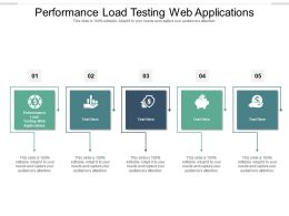 Performance Load Testing Web Applications Ppt Powerpoint Presentation Summary Portfolio Cpb