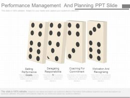 Performance Management And Planning Ppt Slide