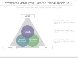 Performance Management Cost And Pricing Example Of Ppt