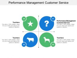 Performance Management Customer Service Ppt Powerpoint Presentation Styles Graphics Design Cpb
