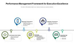 Performance Management Framework For Execution Excellence