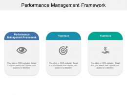 Performance Management Framework Ppt Powerpoint Presentation Icon Graphics Cpb