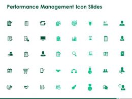 Performance Management Icon Slides Arrow Goal Ppt Powerpoint Presentation Inspiration Layouts
