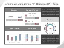 Performance Management Kpi Dashboard Ppt Slide