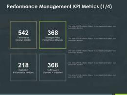 Performance Management Kpi Metrics 1 4 Ppt Powerpoint Presentation Styles Shapes