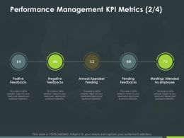 Performance Management Kpi Metrics Pending Feedbacks Ppt Powerpoint Presentation Inspiration Guide
