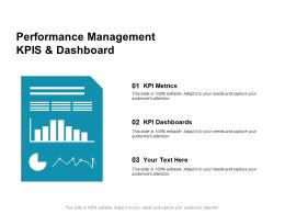 Performance Management KPIS And Dashboard Kpi Metrics Ppt Powerpoint Presentation