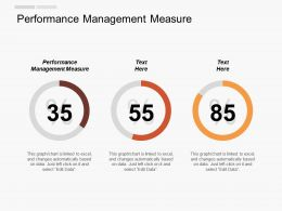 Performance Management Measure Ppt Powerpoint Presentation Layouts Layout Cpb