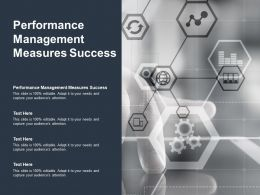 Performance Management Measures Success Ppt Powerpoint Presentation Gallery Visuals Cpb