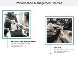 Performance Management Metrics Ppt Powerpoint Presentation Styles Aids Cpb