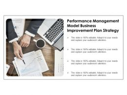 performance management model business improvement plan strategy