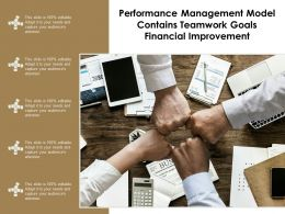 performance management model contains teamwork goals financial improvement