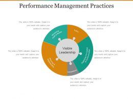 Performance Management Practices Ppt Ideas